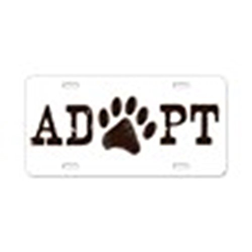 CafePress - Adopt An Animal - Aluminum License Plate, Front License Plate, Vanity Tag