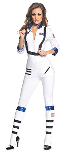 Blast Off Astronaut Adult Womens Costume Space Aviator Theme Party Halloween