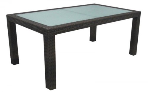 """Amalfi 8 Seat Outdoor Dining Table (Espresso) (29""""H x 84""""W x 40""""D)"""