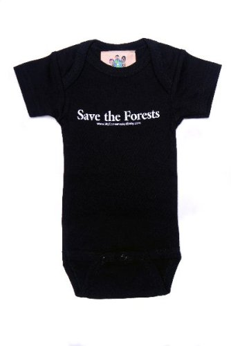 Black Onesie-Save the Forests - Buy Black Onesie-Save the Forests - Purchase Black Onesie-Save the Forests (MyConservationBaby, MyConservationBaby Boys Shirts, Apparel, Departments, Kids & Baby, Boys, Shirts, Boys Shirts)