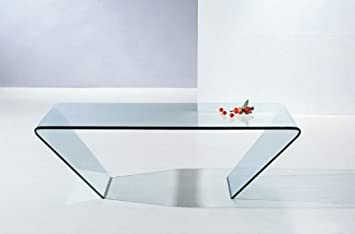 J&M Furniture Modern Coffee Table A519 in Glass