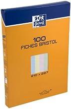 Comprar Oxford 100101031 - Paquete de fichas de cartulina perforada (A4, 200 páginas), colores variados
