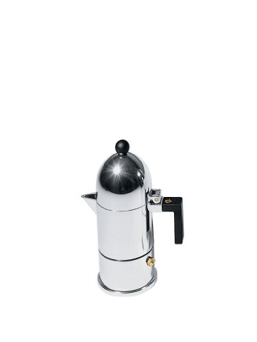 La Cupola Espresso Maker By Aldo Rossi Size: 1 Cup, Handle Color: Black