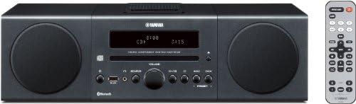 Yamaha MCRB142DGR Chaîne Hifi avec Tuner FM Bluetooth/CD/Station d'accueil pour ipod et iphone Gris foncé