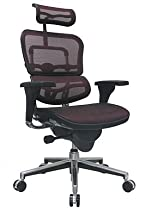 Big Sale Ergohuman High Back Executive Chair with Headrest - Red Mesh Seat and Red Mesh Back - ME7ERG - Red