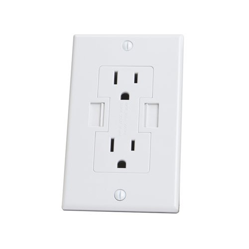 Newer Technology Power2U AC Wall Outlet with USB Charging Ports (White)
