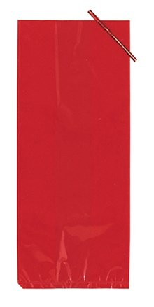 Red Large Cello Treat Bags - 20/Pack (11.25in. x 5in.)