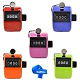 Generic Bluecell Assorted Color Handheld Tally Counter 4 Digit Display for Lap/Sport/Coach/School/Event