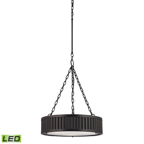 Linden Collection 3 Light Pendant In Oil Rubbed Bronze - Led, 800 Lumens (2400 Lumens Total) With Full Scale Dimming Range, 60 Watt (180 Watt Total)Equivalent , 120V Replaceable Led Bulb Included.