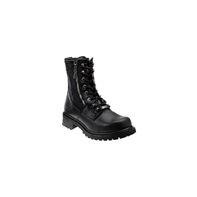 Black, Size 9.5EEE Milwaukee Motorcycle Clothing Company Trooper Leather Mens Motorcycle Boots