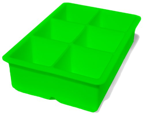 Large Ice Cube Tray - Silicone Freezer Mold - Xl 2-Inch Super Giant Block Cube Trays (Green) front-64936