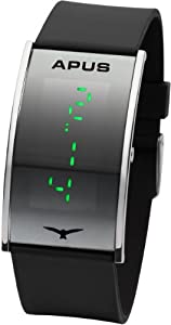 APUS Gamma Silver-Green LED Watch Very Light