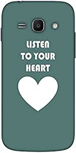 Snoogg Listen To Your Heart Designer Protective Back Case Cover For Samsung G...