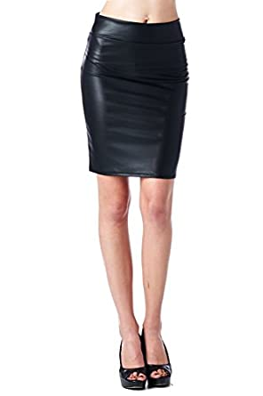 s faux leather from office wear to casual above knee