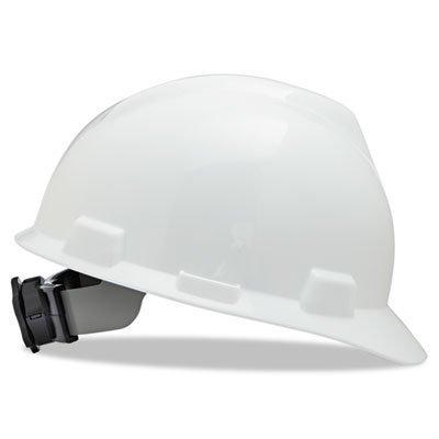 MSA V-Gard Hard Hat w/ Ratchet Suspension, Blue xkai 14pcs 6 19mm ratchet spanner combination wrench a set of keys ratchet skate tool ratchet handle chrome vanadium