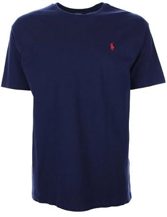 ralph lauren mens t shirt crew neck navy blue medium. Black Bedroom Furniture Sets. Home Design Ideas