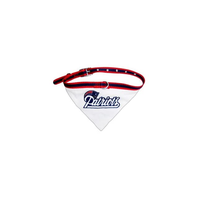 New England Patriots NFL Licensed Bandana Dog Collar  Pet Care Products
