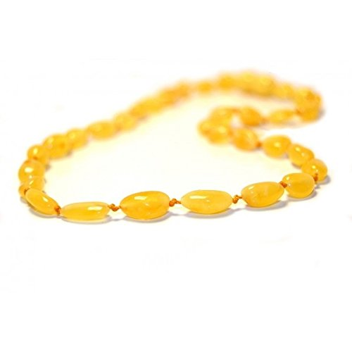 The Art of Cure Baltic Amber Teething Necklace for Baby (Milk Bean) - Anti-inflammatory ... - 1