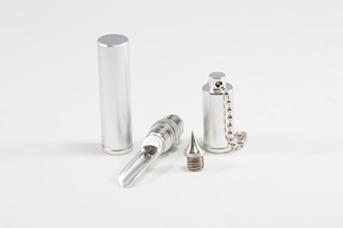 The Snuff Shooter - Metal Container Keychain - Hookah Tool (Silver) (Buddy Pen Vaporizer compare prices)