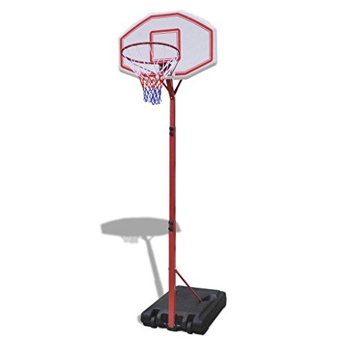 vidaXL Canestro da basket con supporto regolabile