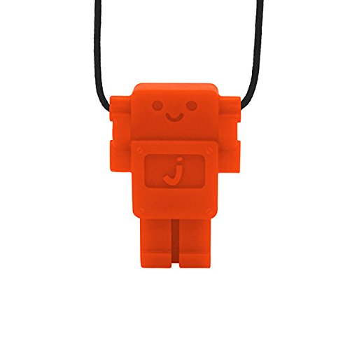 Jellystone Robot 13 Pendant Teether Kids Necklace - Carrot