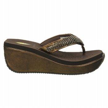 Volatile Women'S Fairy Dust Wedge Sandal,Bronze,7 B Us front-608084