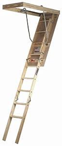 Louisville Ladder S254p 250 Pound Duty Rating Wooden Attic
