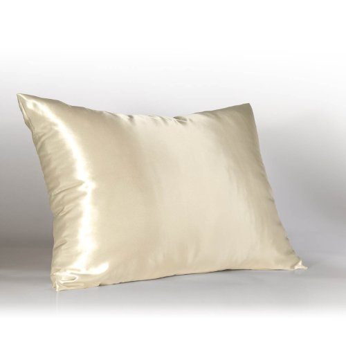 Luxury Ivory Satin Pillow Case w/Hidden Zipper, Queen