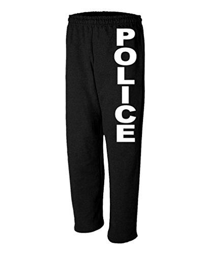 Police - Novelty Duty Cops Law Enforcement - Mens Sweatpants, M, Black