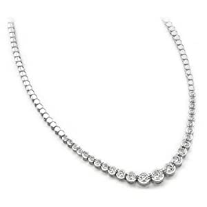 10.00 ctw ctw Diamond Necklace 14k Gold SI-1