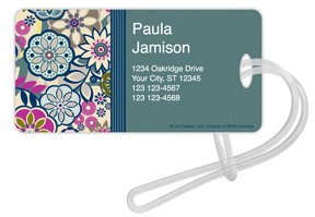 Checks In The Mail - Fancy Floral Luggage Tags