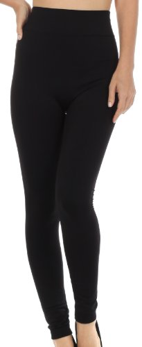 sakkas-lg300-warm-soft-fleece-lined-high-waist-leggings-black-one-size