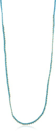 Shashi Turquoise-Color Golden Nugget Necklace
