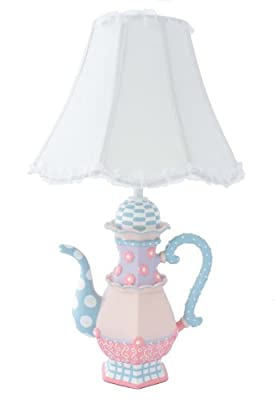 Adorable Teapot Table Lamp - Fantastic Hand Painted Details