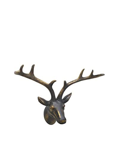 Three Hands Faux Bronze Deer Head Wall Décor