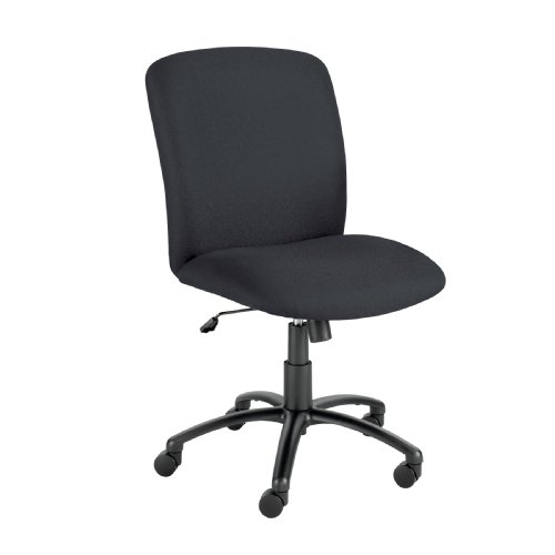 Safco Products 3490BL Uber Big and Tall High Back Chair (Optional arms sold separately), Black Optional Fixed Arms