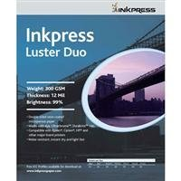 Inkpress Luster-Duo, Double Sided Bright Resin Coated Photograde Inkjet Paper, 12mil., 300gsm., 8.5x11