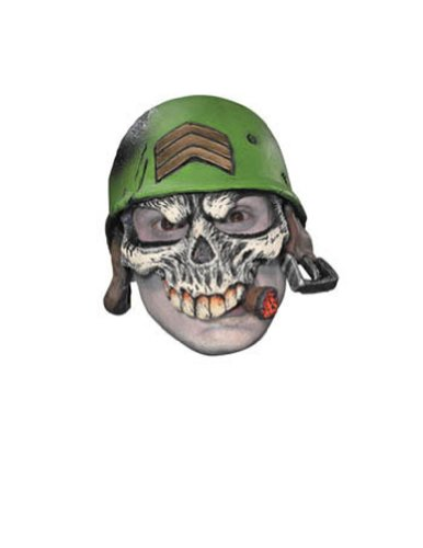 Scary-Masks Sergeant Adult Half Cap Mask Halloween Costume - Most Adults