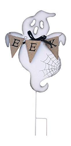 Spooky Ghost Halloween Yard Stake Outdoor Welcome Sign (Eek)