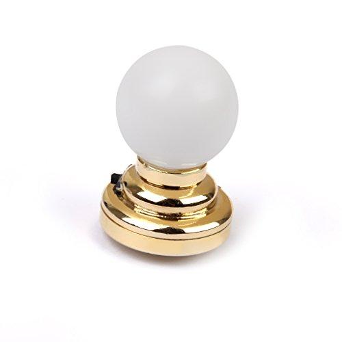 Lampe de Table LED Forme de Boule Miniature pour 1:12 Maison de Poupée