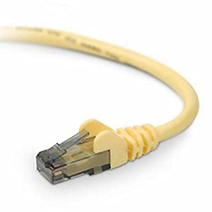 5' Yellow Snagless Cat5e Ethernet Patch Cable by Belkin Components