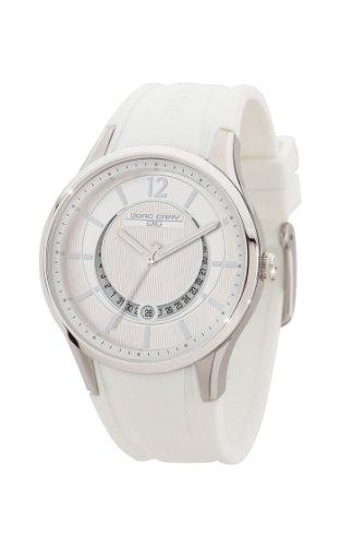 Jorg Gray JG1400-12 - Reloj analógico de cuarzo para mujer, correa de goma color blanco