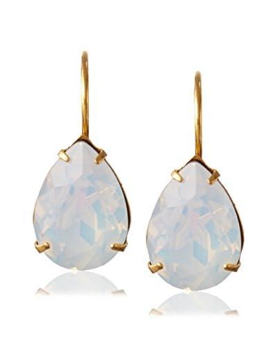 Miss Ellie White Pear-Shaped Swarovski Crystal Drop Earrings