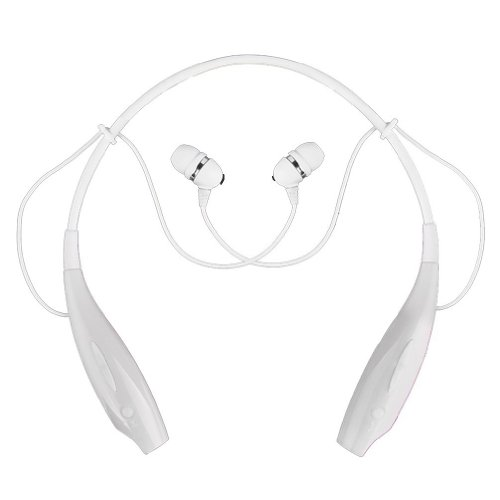 Sports Wireless Bluetooth Headset Headphone Earphone For Cell Phone Iphone Laptop Pc (White)