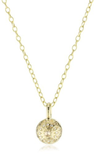 Mizuki Necklace Open Links Cable Chain 18'' Charm Eye Ball Center