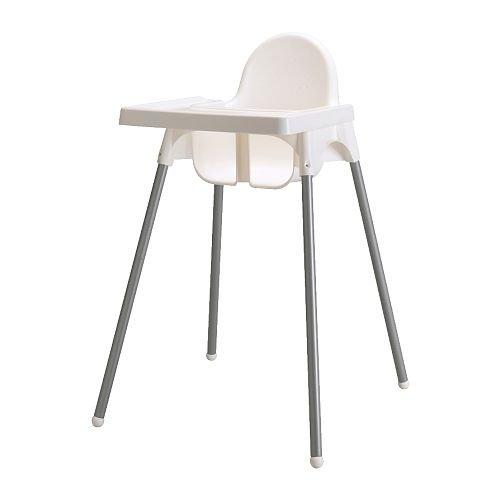 IKEA(イケア) ANTILOP ハイチェア トレイ付き シルバーカラー