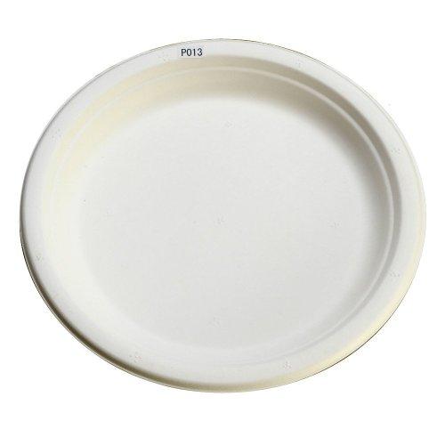 使い捨ての丈夫な紙皿、定番23cmサイズで大好評! エコでおしゃれなeモールド P013 50枚入