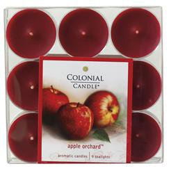 Colonial Candle Apple Orchard Scented Tealight Candles
