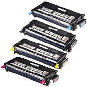 Dell Laser 3115Cn Set Of 4 High Capacity And Good Quality Remanufactred Laser Toner Cartridges (1 Black, 1 Cyan, 1 Magenta, 1 Yellow) Replaces 310-8395, 310-8397, 310-8401, 310-8399
