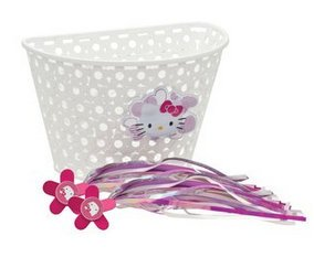 Bell Hello Kitty Bike Basket & Streamers (Bell And Streamers compare prices)